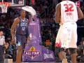 Shaq Goes between Dwight's legs for the Monster Jam